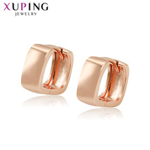 11.11 Xuping Fashion Rose Gold Cold Plated Square Small Earrings New Arrival for Women Lovely Charm Jewelry Gift S196,3-98375(China)
