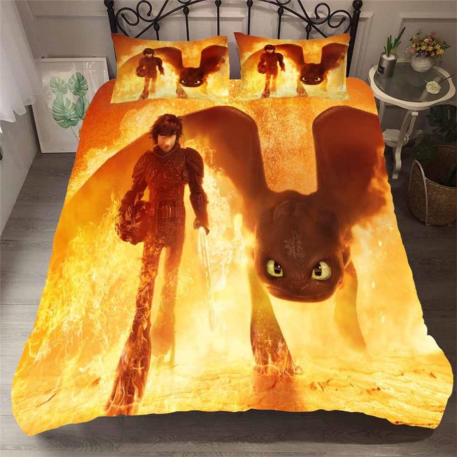 HELENGILI 3D Bedding Set Anime Print Duvet Cover Set Bedcloth with Pillowcase Bed Set Home Textiles #63 1 Bedding Sets     - title=