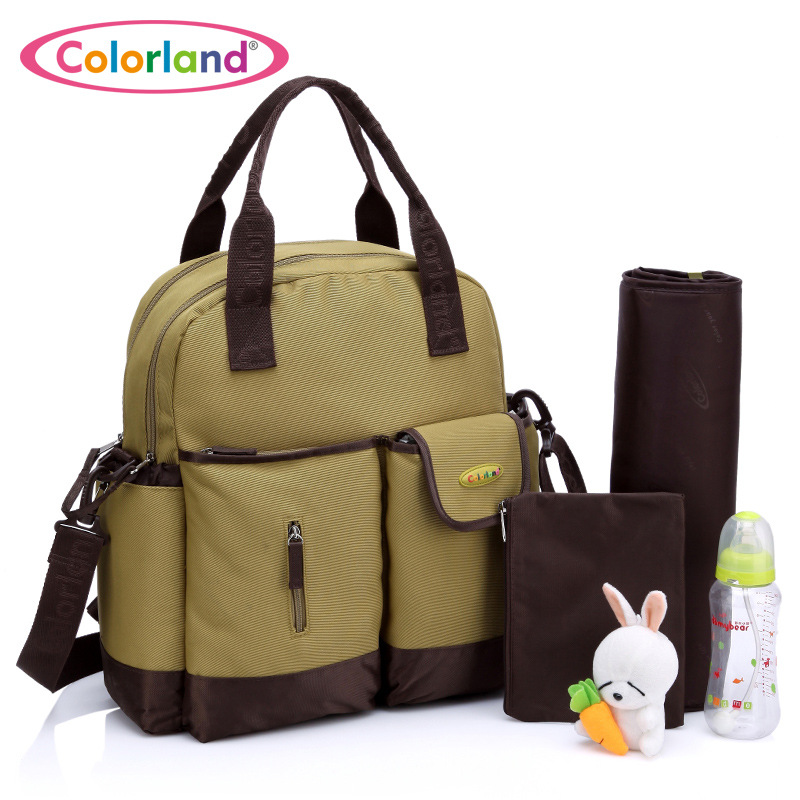 4 In 1 Diaper Bags With 4 Free Gifts, Fashion Mommy Backpack Bags Of Multiple Carry Method, Waterproof Large Messenger Bags