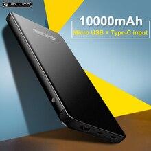 Jellico Taşınabilir Tipi C Güç Bankası 10000 mAh harici pil Paketi Powerbank Samsung S9 Not 8 Xiaomi A1 Cep Telefonu şarj