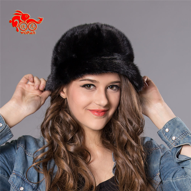 New Hot sale Lady brand Winter fur real mink fashion warm thicken knit mink hat woman high quality mink fur 2306 foreign trade explosion models in europe and america in winter knit hat fashion warm mink mink hat lady ear cap dhy 36