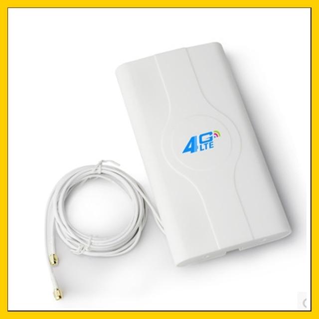 Kapalı yüksek kazanç 88dbi 4G LTE MIMO anten 2m kablo ile çift konnektör SMA için huawei ZTe 3g 4g yönlendirici