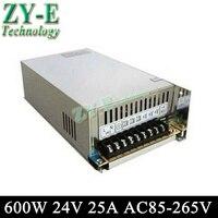 Высокое качество 24 В 25a 600 Вт LED Импульсный источник питания led силовой трансформатор ac850 265v Вход для Светодиодные полосы света Бесплатная дос