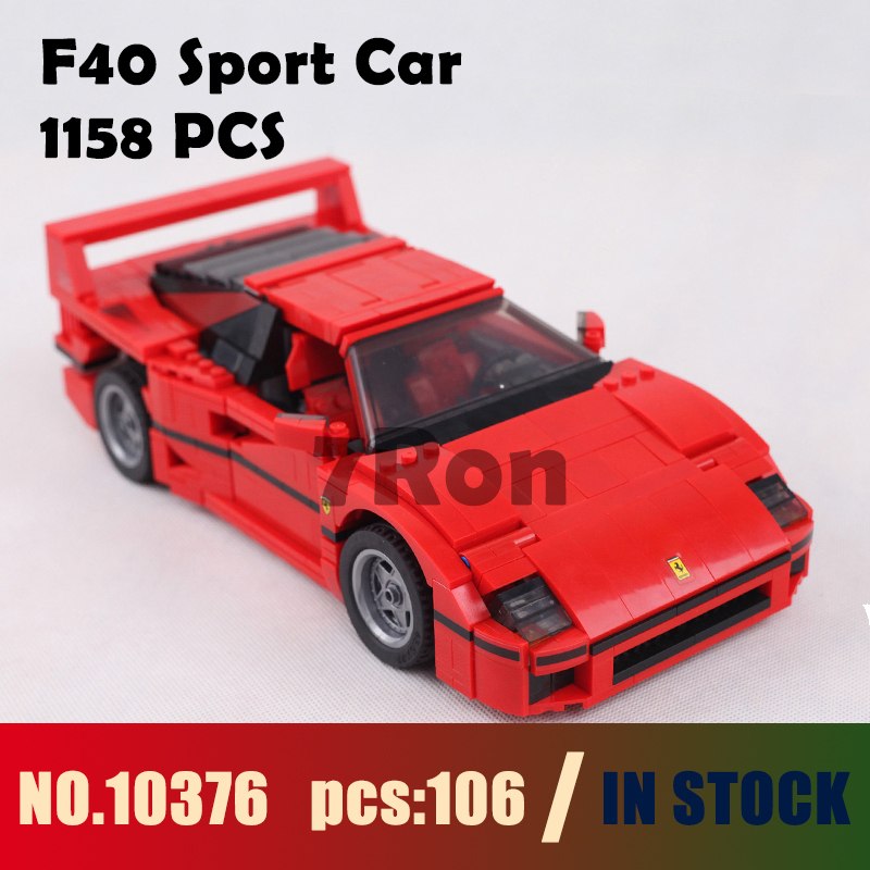 Compatible with lego 001 F40 Sports Car Model building kits 10248 city 3D blocks Educational toys hobbies for children 21004 decool 3117 city creator 3in1 vacation getaways building block 613pcs diy educational toys for children compatible legoe