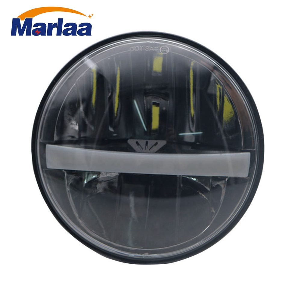 Marlaa Motorcycle 5-3/4 5.75 Daymaker LED Headlight for Harley Davidson 883, sportster, triple, low rider, wide glide Headlamp mtsooning timing cover and 1 derby cover for harley davidson xlh 883 sportster 1986 2004 xl 883 sportster custom 1998 2008 883l