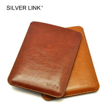 SILVER LINK PU Faux Leather Sleeve Pouch Bag For Amazon Kindle 7/8 Paperwhite 1/2/3 Case E-Reader Protector Cover Tablets Skin(China)