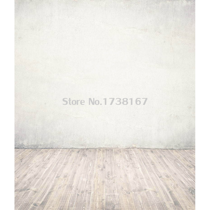 Light Color Bricks Wall Photography Backdrop Vintage Wooden Floor F1354 Vinyl Or Polyester Children Background For photo studio retro background christmas photo props photography screen backdrops for children vinyl 7x5ft or 5x3ft christmas033