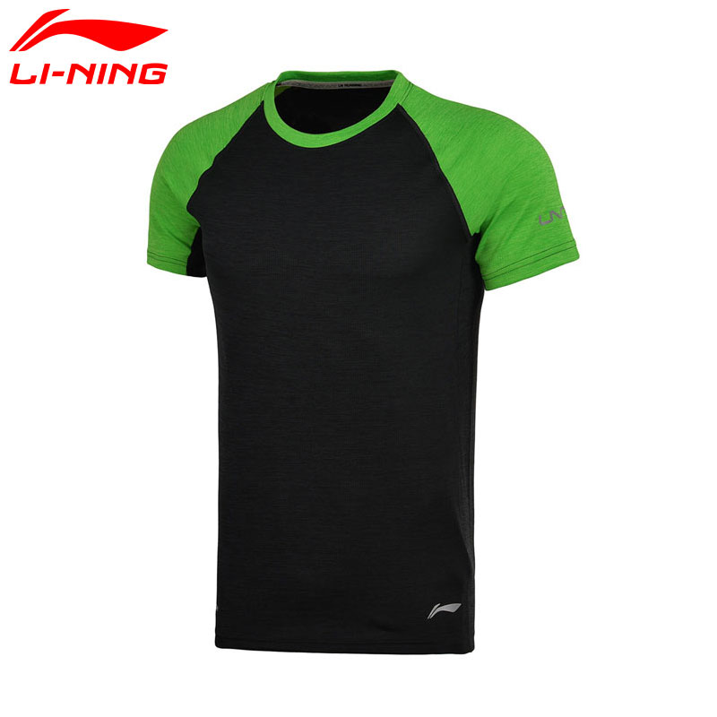 Prix pour Li-Ning Hommes de Course T-Shirt À Manches Courtes À SEC Respirant Doublure T-shirt Sport Tee Tops ATSM209 MTS2463