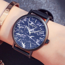 GIMTO Top Brand Fashion Ladies Watches Leather Female Quartz Watch Women Thin Casual Strap Watch Reloj Mujer Marble Dial 2018 2018 new top luxury brand quartz watch women fashion waterproof leather band flash star dial ladies hand watches reloj mujer