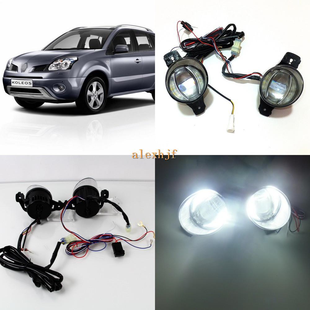 July King 1600LM 24W 6000K LED Light Guide Q5 Lens Fog Lamp+1000LM 14W Day Running Lights DRL Case for Renault Koleos 2008-2010 july king 1600lm 24w 6000k led light guide q5 lens fog lamp 1000lm 14w day running lights drl case for nissan inifiniti series
