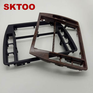 Image 4 - SKTOOFor VW PassatB5 Middle Escutcheon Center Decorative Box Dashboard Console Panel CD Recorder Frame Radio Face Trim 3B0858069