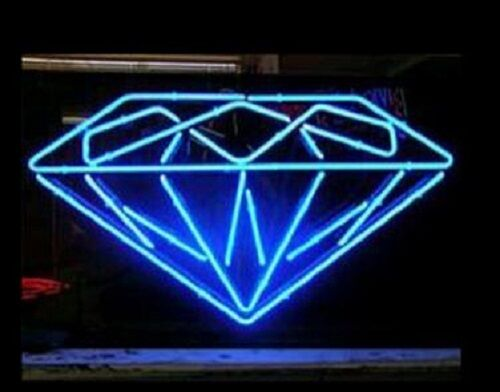 Barre de bière en verre diamant néon