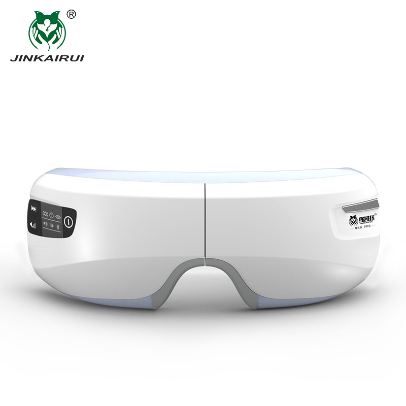 JinKaiRui Wireless Rechargeable Eye Massager Far infrared Heating Compression Therapy Massagem Device Relaxation with Mp3