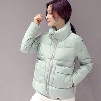 2017 Winter Jacket Women Short Parka Hooded Warm Women Jacket Down Cotton Winter Coat Wadded Outwear