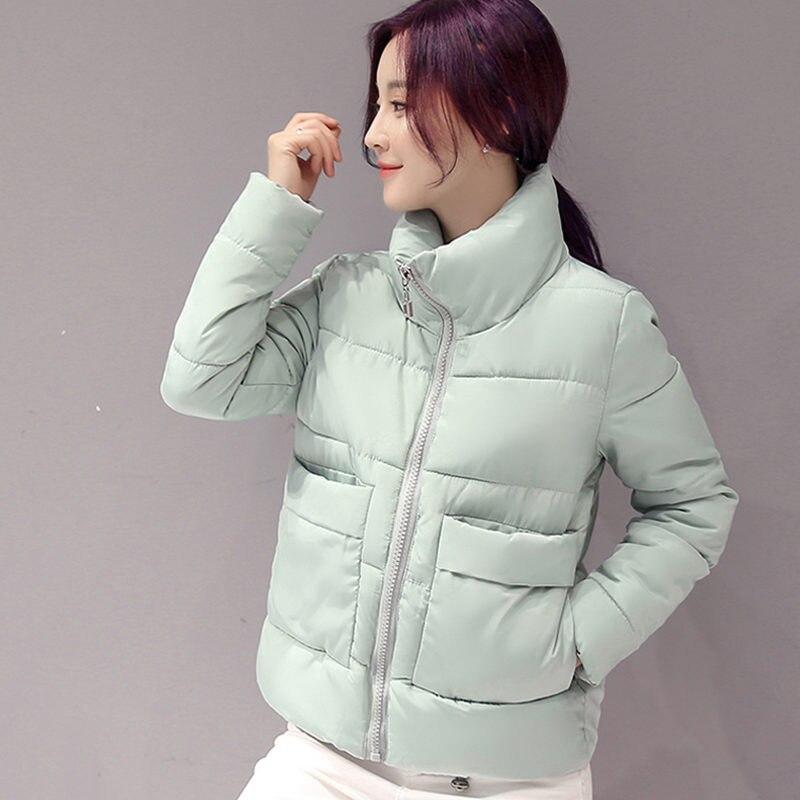 2019 Winter Jacket Women Short   Parka   Coats Warm Women Jacket Down Cotton Winter Coat Wadded Outwear Manteau Femme Hiver C3787