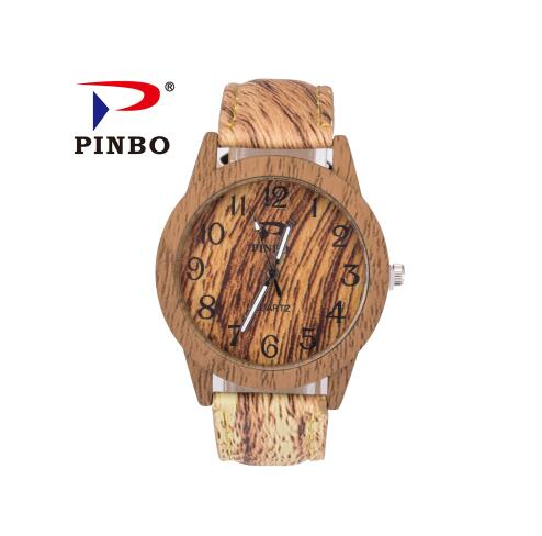 PINBO Brand Fashion Round dial Wooden Watch Men Women Quartz Wristwatch Lady vintage Leather Watch Clock Male Relogio MasculinoPINBO Brand Fashion Round dial Wooden Watch Men Women Quartz Wristwatch Lady vintage Leather Watch Clock Male Relogio Masculino