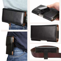 Universal Many Models Belt Clip Holster Leather Mobile Phone Case Pouch Cover For THL T6C 5