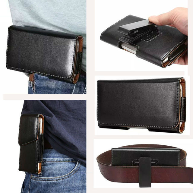 """Universal Many Models Belt Clip Holster Leather Mobile Phone Case Pouch cover For THL T6C 5"""" inch For smartphone belt pouch bags"""