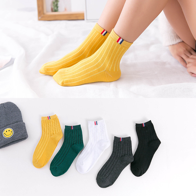 Harajuku Funny Socks Women Various Colors Female Cute Sock Womens Designed School Students Females Korean Style Trendy Ladies 1