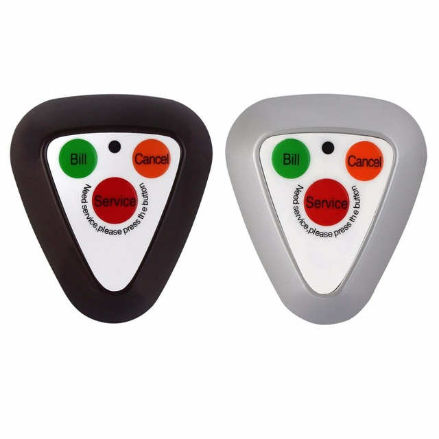 433.92MHz Wireless Calling System Transmitter Button Call Pager Restaurant Coaster Pager Waterproof F3297