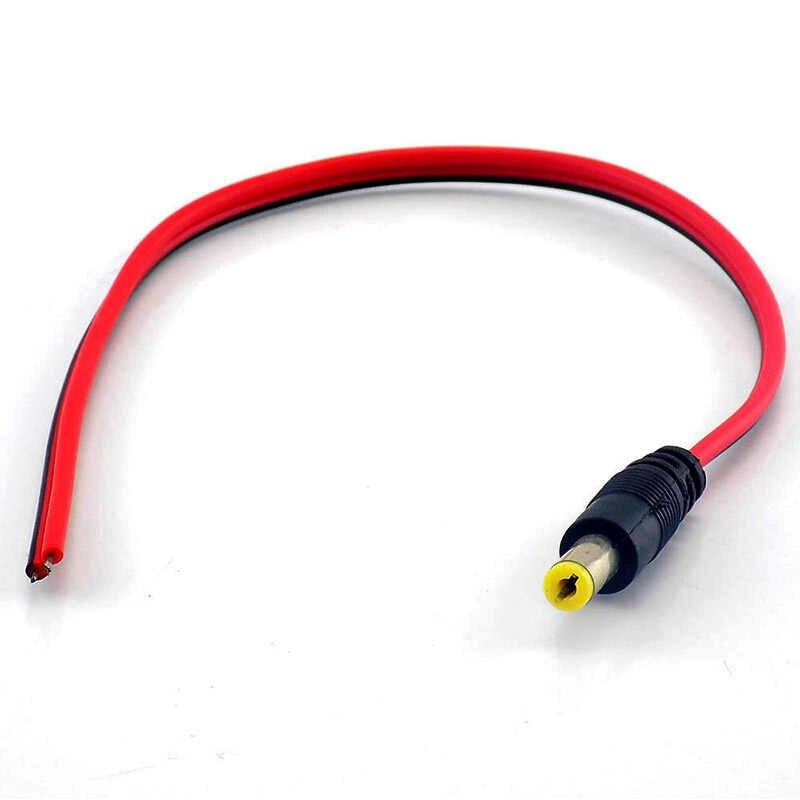 DC złącza męskie żeńskie wtyczki kabel zasilający przewód z drutu do kamery CCTV bezpieczeństwa 12v rozszerzenie kabel adapter wtyczki 2.1*5.5mm