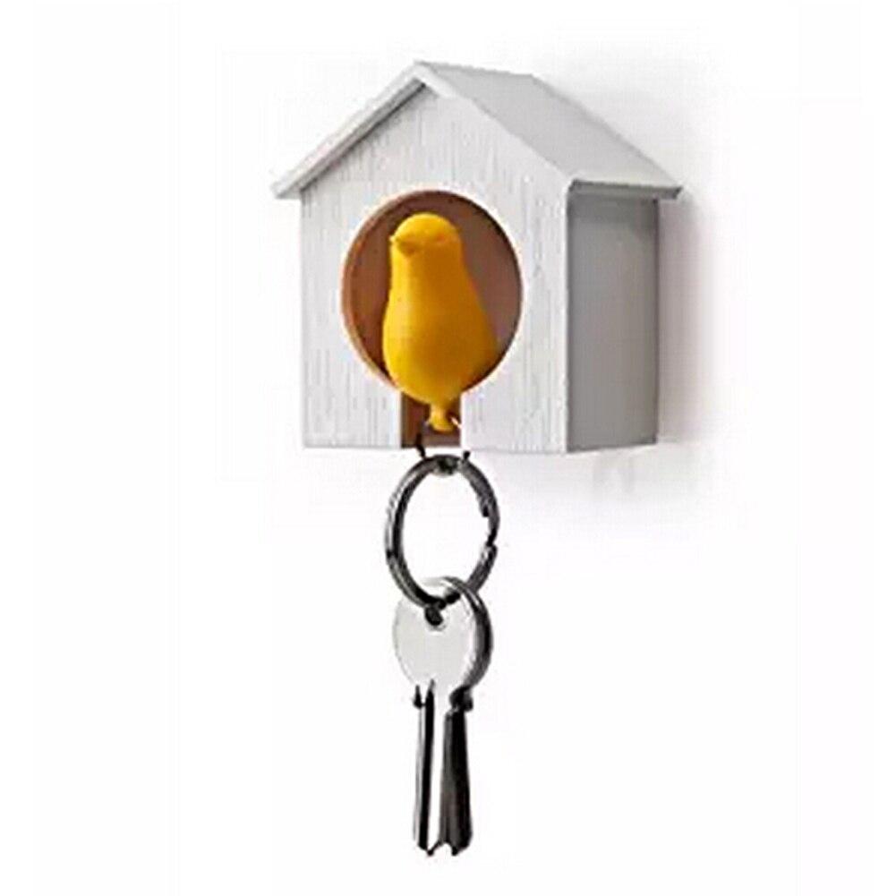 New Bird Keychain + 1 PC Bird House Nest Whistle Key Holder Chain Ring Keyholder Keychain Keyring Hanger Rack