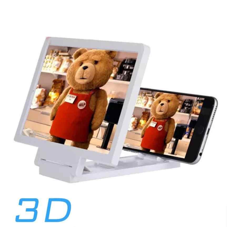 NewNewest Handy Bildschirm Lupe Augen Schutz Display 3D Video Bildschirm Verstärker Folding Vergrößert Expander tablet Ständer