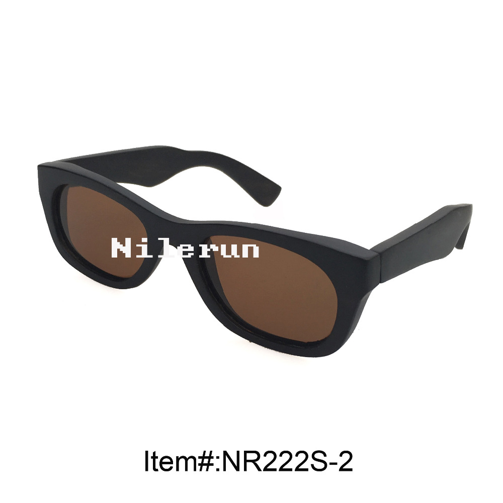 cheap black wooden sunglasses