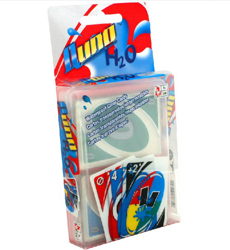 Plastic UNO Board Game Waterproof Cards Game ABS Environmentally Materials Games For Family/Friends/Party