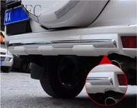 Для Toyota Land Cruiser Prado Fj150 2010 2017 Высокое качество ABS хром нижний задний бампер Защитная Крышка отделкой