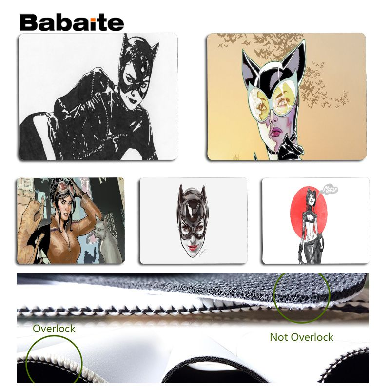 Babaite Cool New Catwoman mouse pad gamer play mats Size for 18x22cm 25x29cm Rubber Mousemats