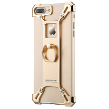 2017 nillkin casos de metal para iphone 7 plus barde metal case con el anillo de la pata de cabra case contraportada completo para apple iphone 7