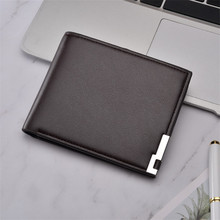 Top ultra-thin Casual Sequined PU Leather Mens Wallet Case S