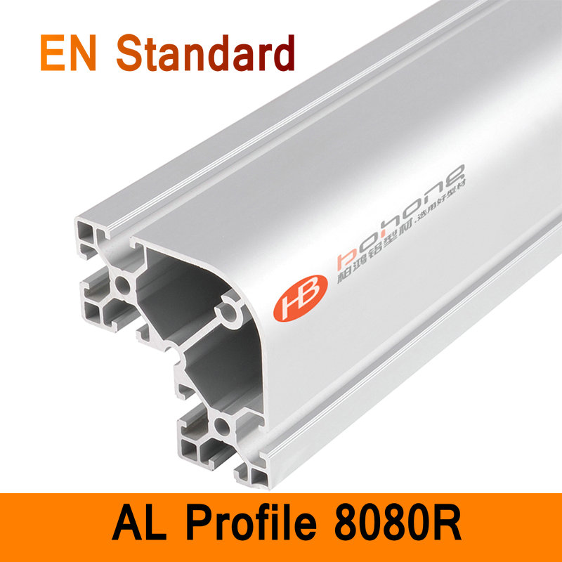 8080R Aluminium Profile EN Standard DIY Brackets Aluminium AL Extrusion CNC 3D DIY Printer Frame Round Aluminum Frame T Slot