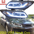 Civi headlight,2012~2015 (LHD,RHD need add 200USD),Free ship! Civi daytime light,2ps/se+2pcs Aozoom Ballast,crosstour,city,Civi