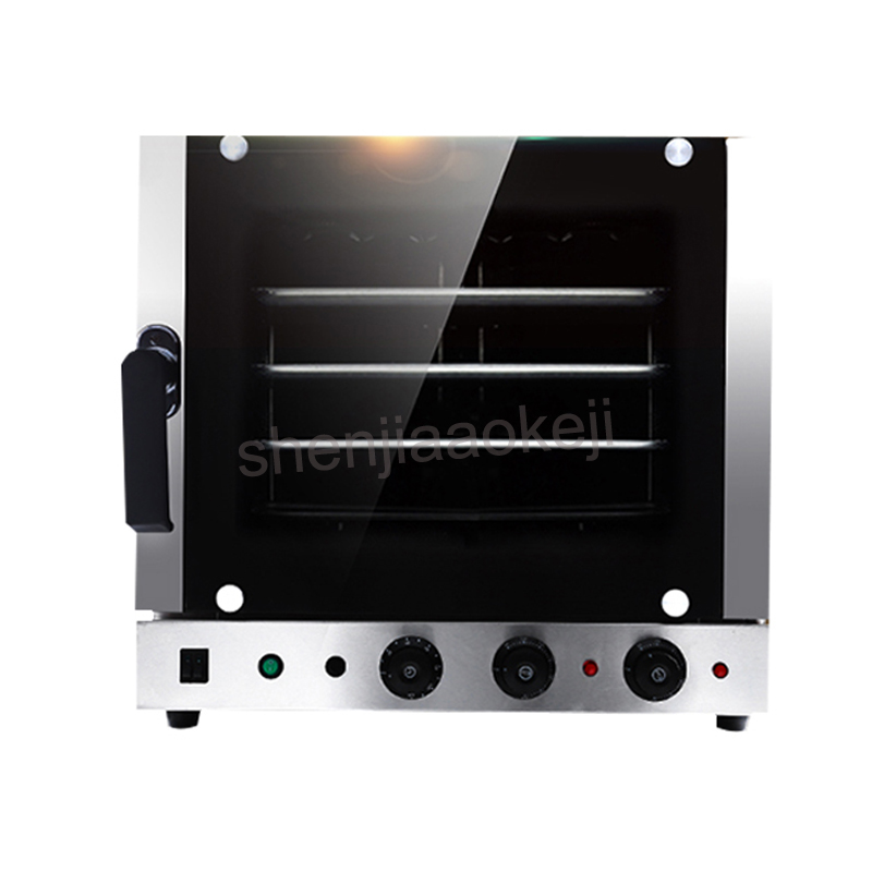 Automatic Stainless Steel 4 trays Hot-air Convection Oven kitchen Baking oven 60l 220V 4500W Electric oven commercial цена и фото