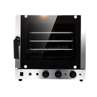 Automatic Stainless Steel 4 trays Hot air Convection Oven kitchen Baking oven 60l 220V 4500W Electric oven commercial