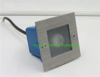 Waterproof 1W 85 265V LED Stair Step Light Recessed Indoor Outdoor Wall Corner Lamp For Villa