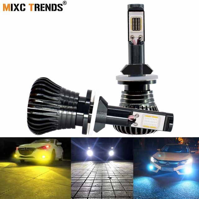 2Pcs Strobe LED Fog Lights H8 H11 H1 H3 H7 HB4 9005 HB3 9006 880 881 H4 Car Headlight Fog Lamp Bulb Flash COB Warning Lights