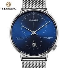 STARKING אוטומטי שעון Relogio Masculino עצמי רוח 28800 פעימות מכאני תנועת שעוני יד גברים פלדת זכר שעון 5ATM AM0269
