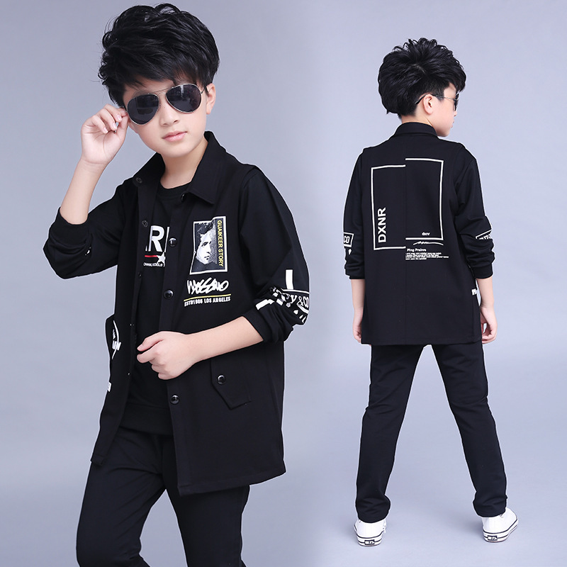 Clothes Boys 2017 Baby Boys Hoodied Coats And Jackets Pants Sets Korean Fashion Clothing