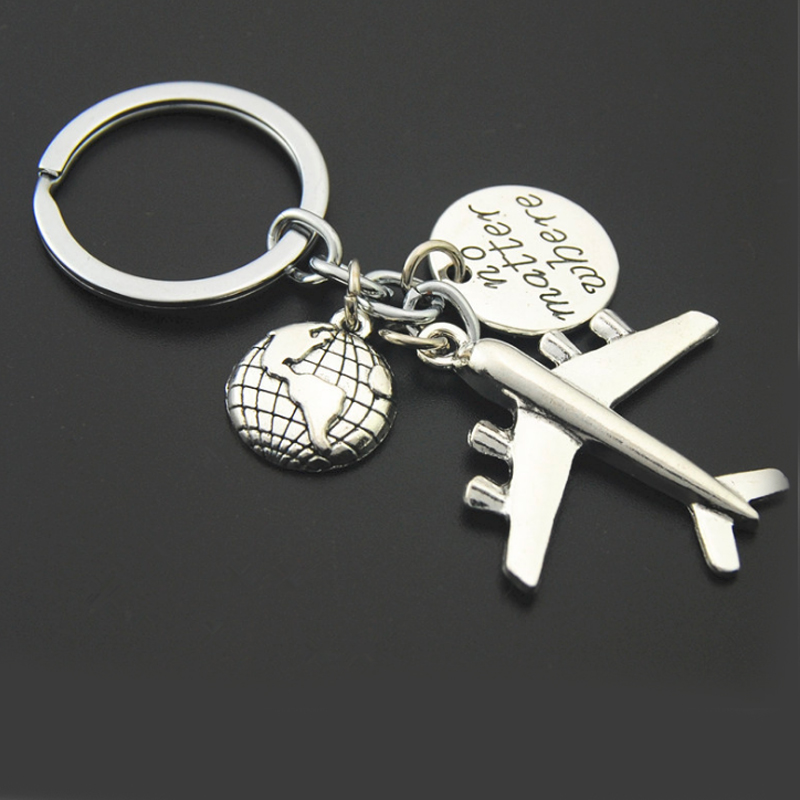 New Airlines Model Metal Keychain Air Plane Aircraft Gift Key Chain Car Pendant Men And Women Jewelry Key Ring Holder QH6010
