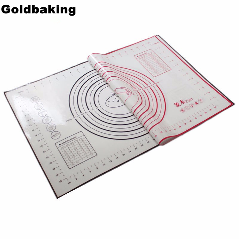 Large 60*40cm Non Stick Silicone Baking Mat with Measurements & Conversions Silicone Pastry Mat Cookie Sheet