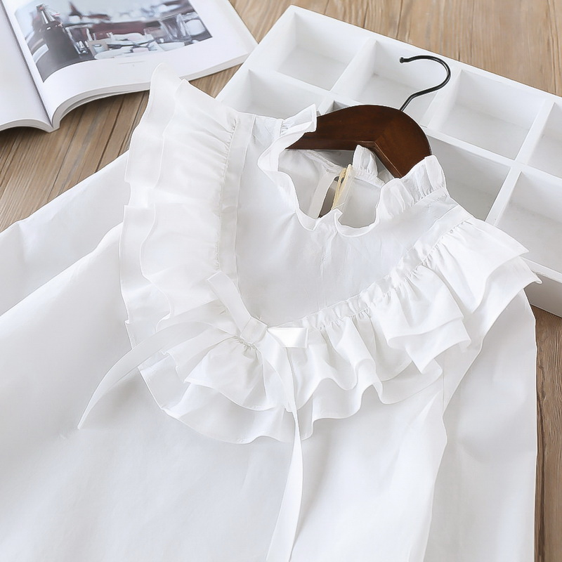 45-7-baby girl ruffles Solid blouses