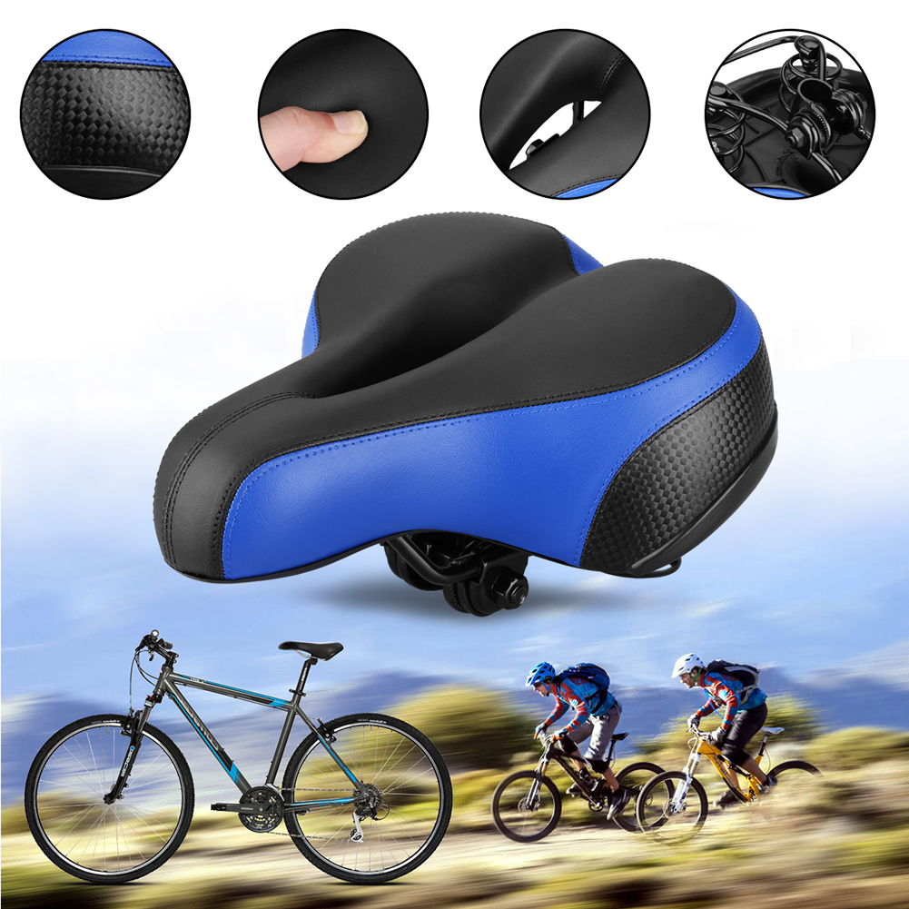 2018 Soft MTB Bicycle Saddle Thicken Wide Bicycles Seat Pad + Rear Cycling Mountain Road Bike Saddle Bicycle Accessories 1pcs bicycle fender with cycling glasses mtb mountain road bike mud guards fender front rear mudguard bike bicycle accessories