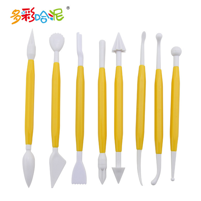 8Pcs/Set Innocuously Plastic Clay Tools Square Soft Ceramic Sculptural Polymer Quality Pottery Plasticine Surgeon DIY Art Manual image