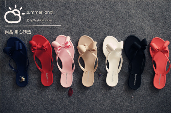 42fb9b4c0420 2018 Summer New Pinch Bow Slippers And Sandals Sandals Female Solid Jelly  Shoes Wholesale Ladies Sandals-in Women s Sandals from Shoes on  Aliexpress.com ...