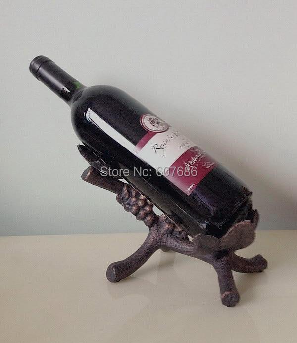 Cast Iron Vineyard Grapevine Wine Caddy Bottle Holder