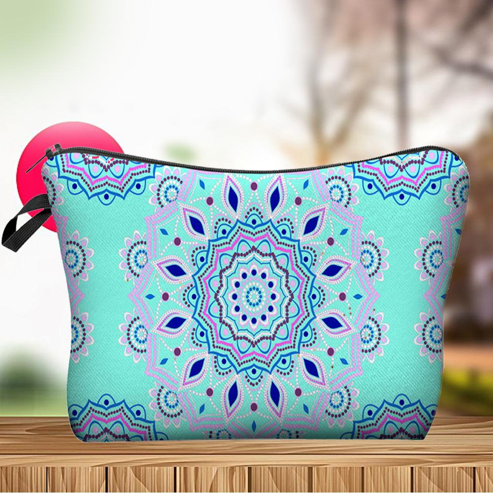 Printed Toiltry Storage Pouch Travel Zipper Woman Cosmetic Bag Purse Organizer Toilet Bag Neceser Maquillaje