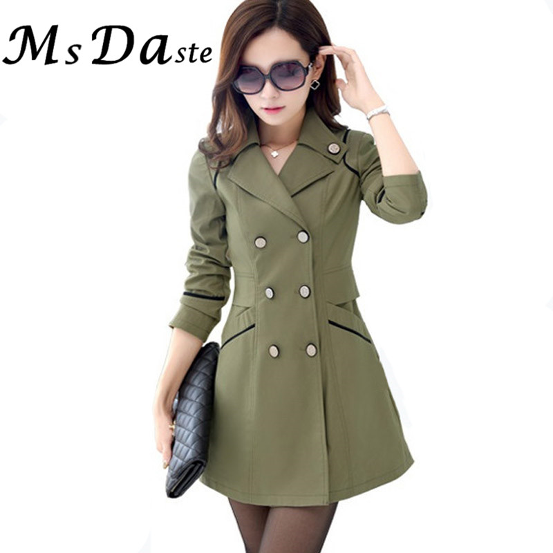 Women Trench Coats 2017 New Autumn Casual Trench Coat for Women Slim Plus Size Blaser Chaquetas Cardigan Jaqueta Feminina Casaco